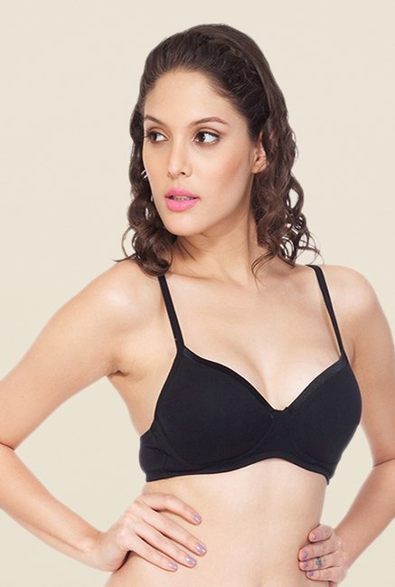 Soie Black Demi Cup Non Wired Padded Bra