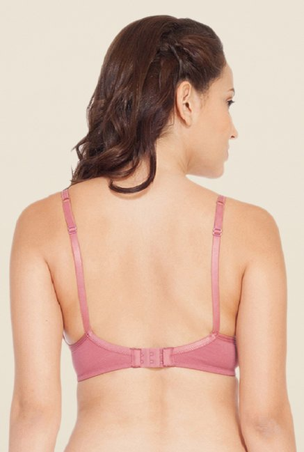 Soie Pink Demi Cup Non Wired Padded Bra