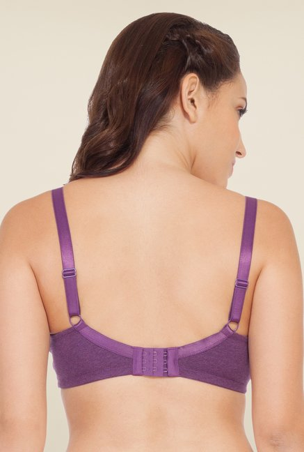 Soie Purple Non Padded Non Wired Full Coverage Bra