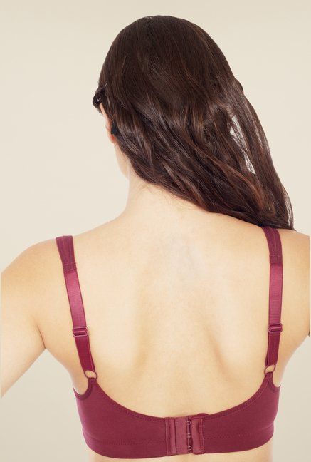 Soie Maroon Non Padded Non Wired Seamless Bra