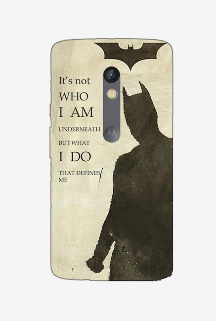 Ziddi BATMAN Hard Back Cover for Moto X Play (Multi)
