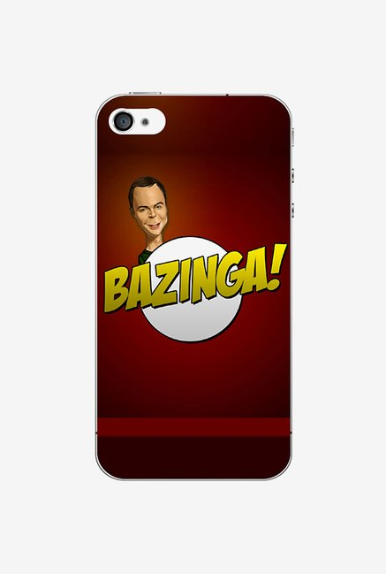 Ziddi BAZINGA Hard Back Cover for iPhone 4S (Red)