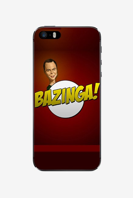 Ziddi BAZINGA Hard Back Cover for iPhone 5S (Red)