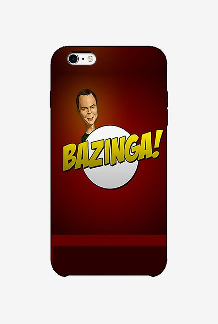 Ziddi BAZINGA Hard Back Cover for iPhone 6S (Red)