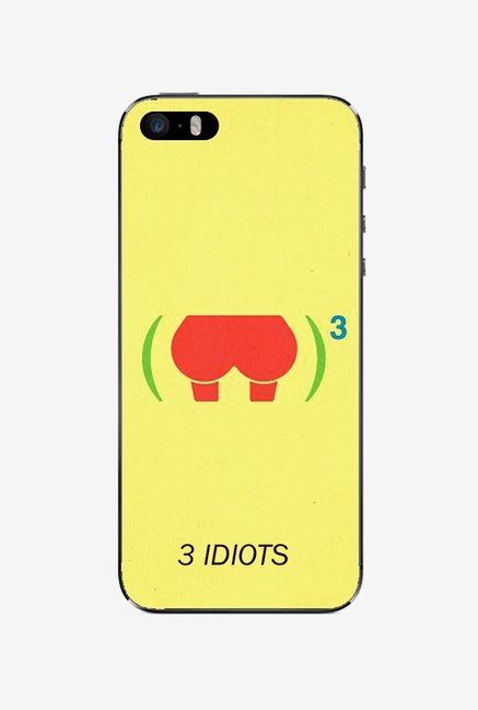 Ziddi 3IDIOTS Hard Back Cover for iPhone 5 (Yellow)