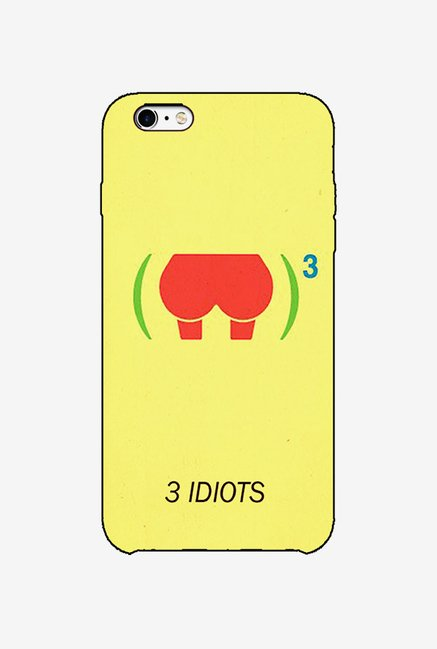 Ziddi 3IDIOTS Hard Back Cover for iPhone 6S (Yellow)