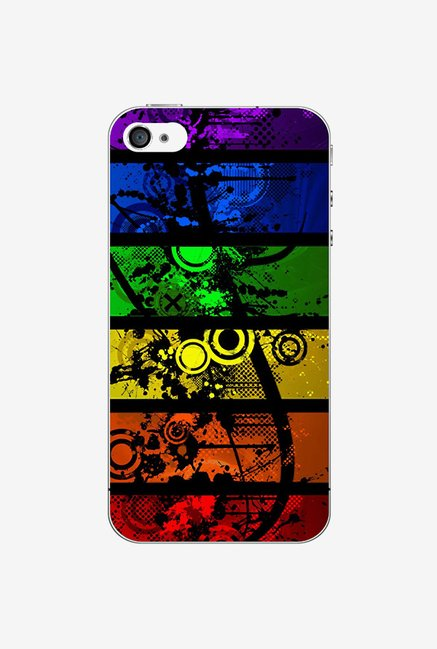 Ziddi ABSTRCT Hard Back Cover for iPhone 4S (Multi)