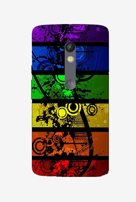 Ziddi ABSTRCT Hard Back Cover for Moto X Play (Multi)
