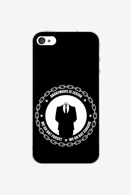 Ziddi ANONYMS Hard Back Cover for iPhone 4S (Black)