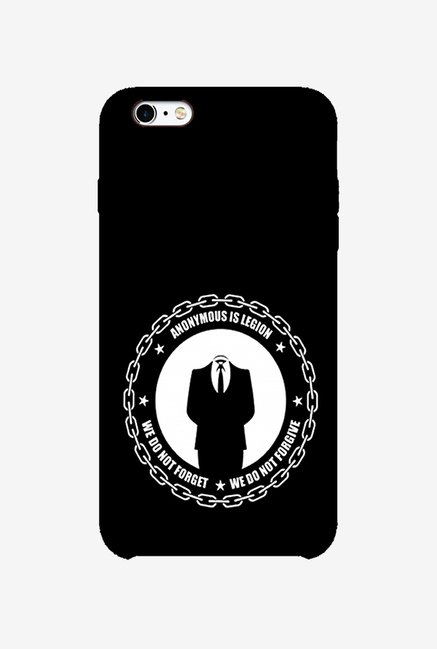 Ziddi ANONYMS Hard Back Cover for iPhone 6 (Black)