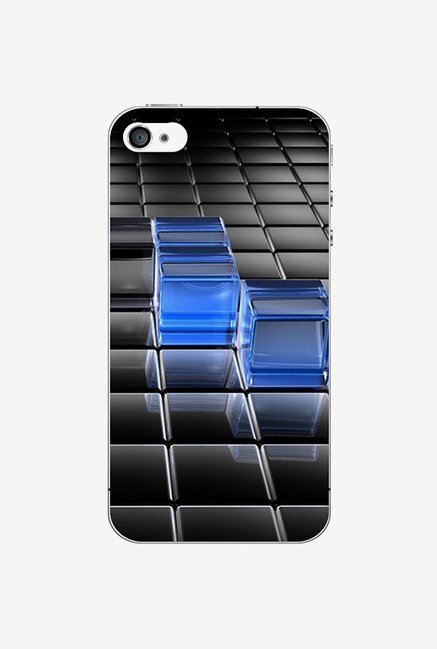 Ziddi BLUCUBE Hard Back Cover for iPhone 4S (Multi)