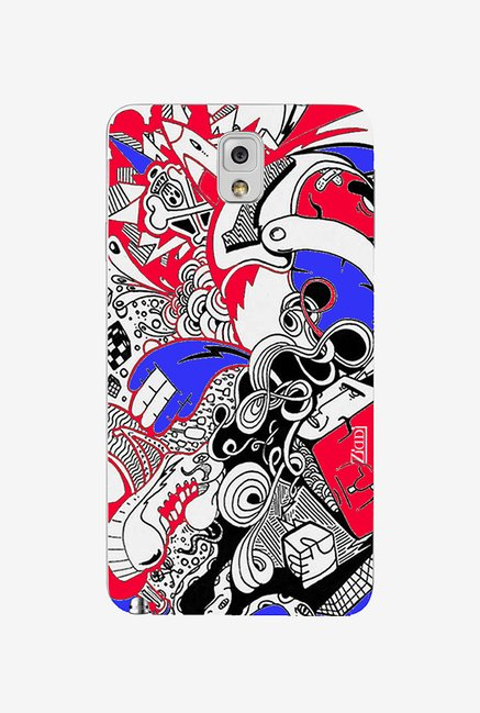 Ziddi BLUERED Hard Back Cover for Galaxy Note 3 (Multi)
