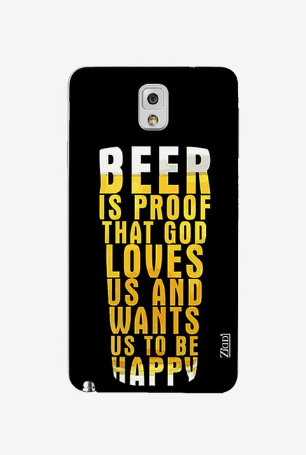 Ziddi BEER Hard Back Cover for Galaxy Note 3 (Multi)