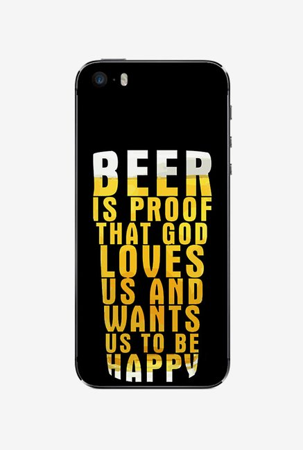 Ziddi BEER Hard Back Cover for iPhone 5 (Multi)