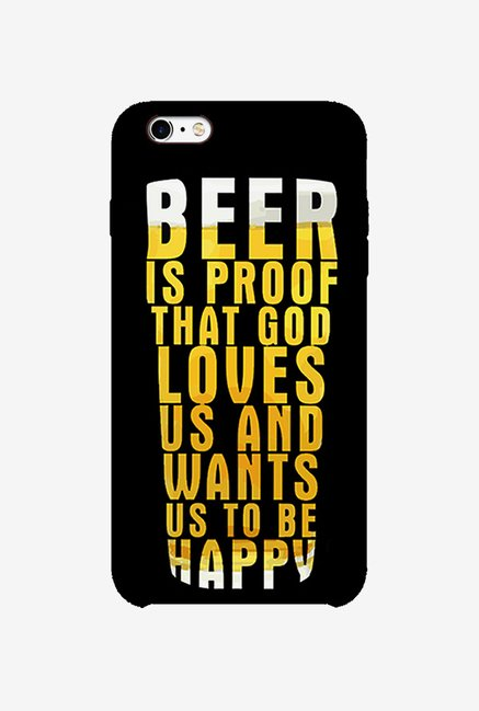 Ziddi BEER Hard Back Cover for iPhone 6S (Multi)