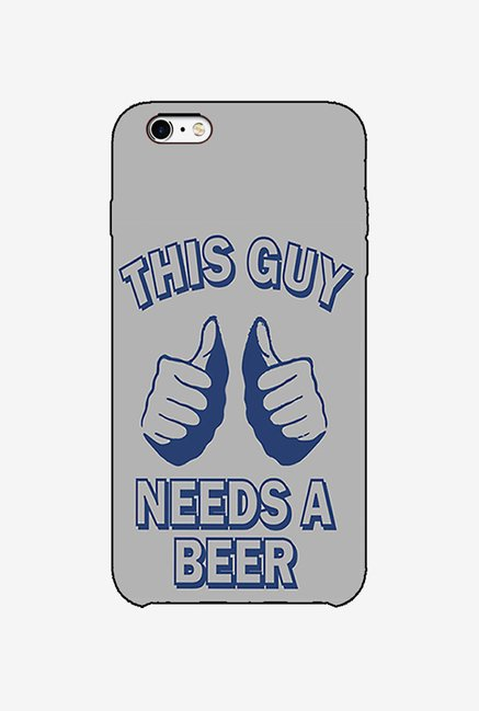 Ziddi BEERQUOT Hard Back Cover for iPhone 6 (Multi)