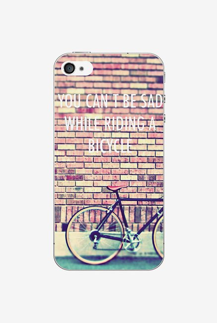 Ziddi BICYCLE Hard Back Cover for iPhone 4S (Multi)