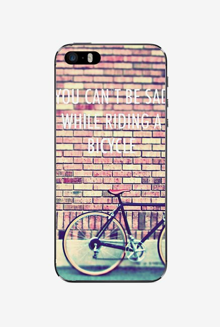 Ziddi BICYCLE Hard Back Cover for iPhone 5 (Multi)