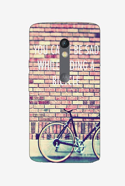 Ziddi BICYCLE Hard Back Cover for Moto X Play (Multi)