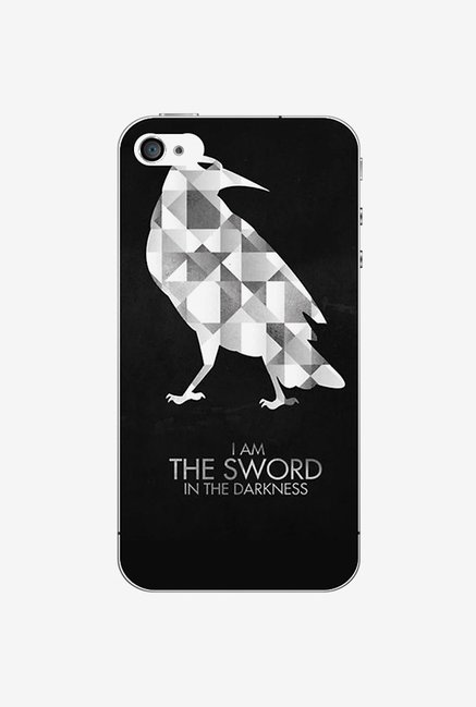 Ziddi BIRDSWORD Hard Back Cover for iPhone 4S (Black)