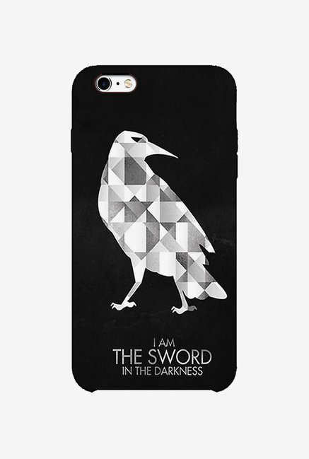 Ziddi BIRDSWORD Hard Back Cover for iPhone 6 (Black)