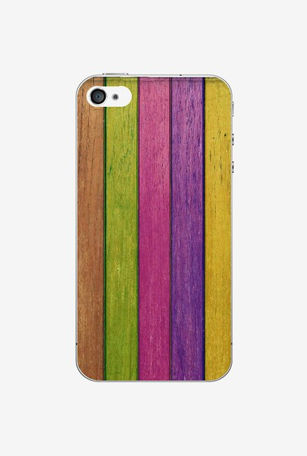 Ziddi CLRSTRIP Hard Back Cover for iPhone 4S (Multi)