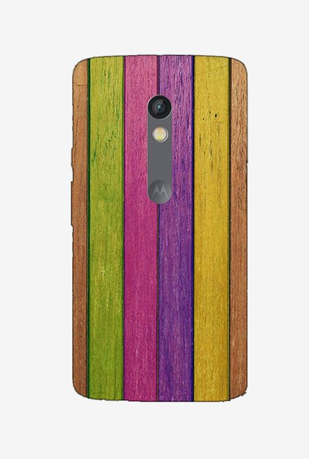 Ziddi CLRSTRIP Hard Back Cover for Moto X Play (Multi)