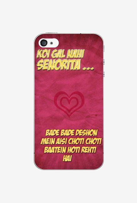 Ziddi DDLJ Hard Back Cover for iPhone 4 (Multi)