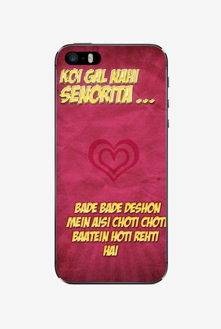 Ziddi DDLJ Hard Back Cover for iPhone 5S (Multi)