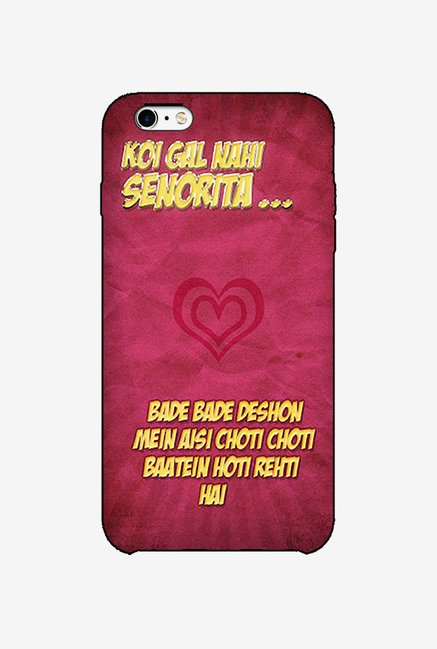 Ziddi DDLJ Hard Back Cover for iPhone 6S (Multi)