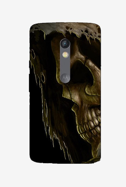Ziddi BRSKUL Hard Back Cover for Moto X Play (Multi)