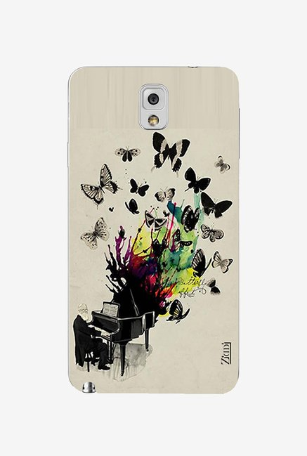 Ziddi BUTTERFLY Hard Back Cover for Galaxy Note 3 (Multi)