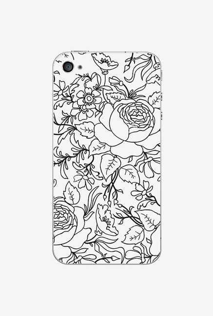 Ziddi BWFLWRS Hard Back Cover for iPhone 4 (Multi)