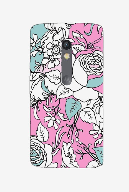 Ziddi BWPFLRL Hard Back Cover for Moto X Play (Multi)