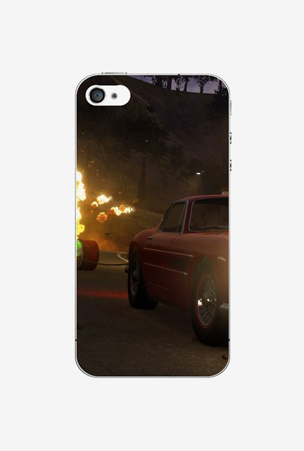 Ziddi CARFIRE Hard Back Cover for iPhone 4S (Multi)