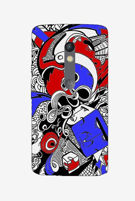 Ziddi DESGN1 Hard Back Cover for Moto X Play (Multi)