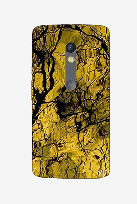 Ziddi EARTHCRACK Hard Back Cover for Moto X Play (Multi)