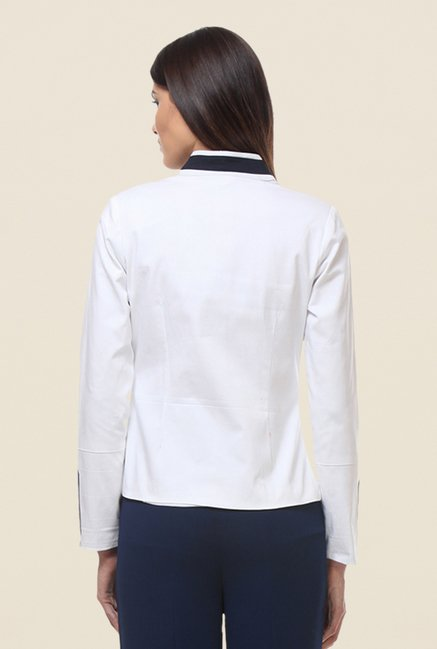 Kaaryah White Full Sleeves Jacket