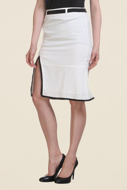 Kaaryah Off White A Line Skirt