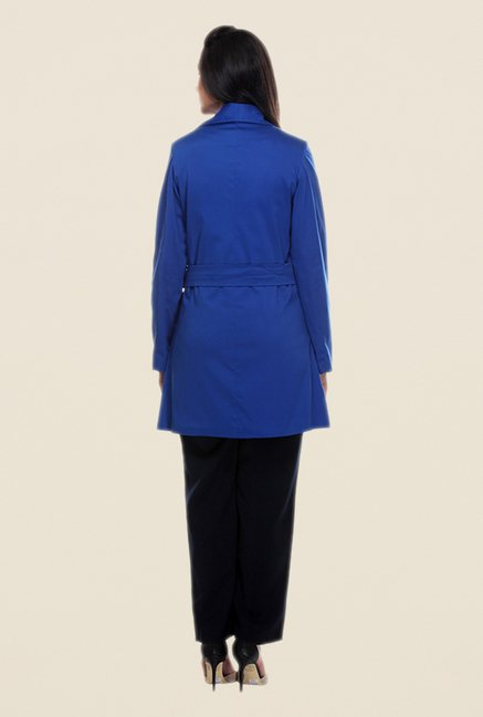 Kaaryah Blue Full Sleeves Jacket