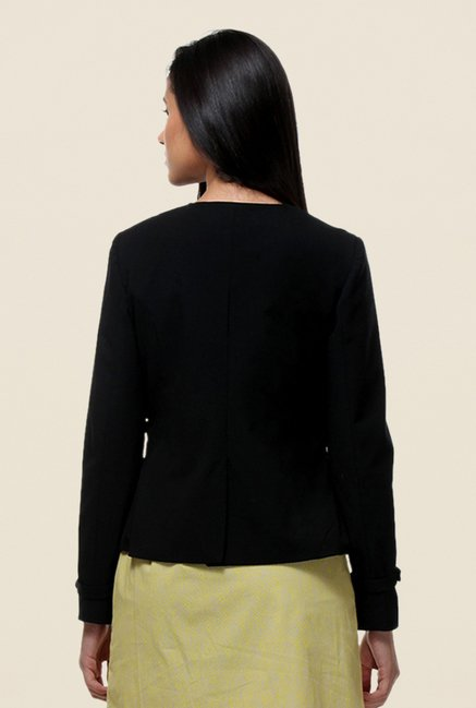 Kaaryah Black Full Sleeves Jacket