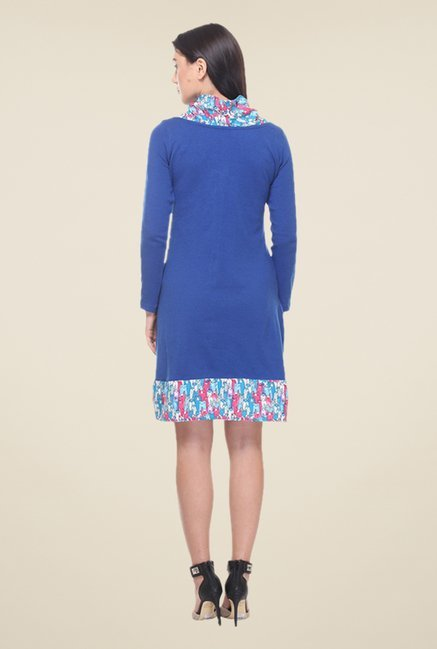 Kaaryah Blue Printed Dress