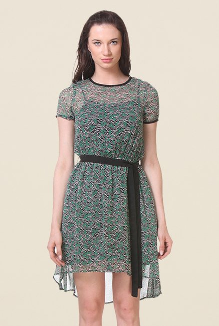 Kaaryah Green Printed Dress