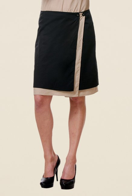 Kaaryah Black Wrap Skirt