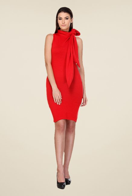 Kaaryah Red Sleeveless Dress