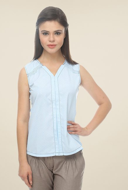 Kaaryah Blue Pin Striped Shirt