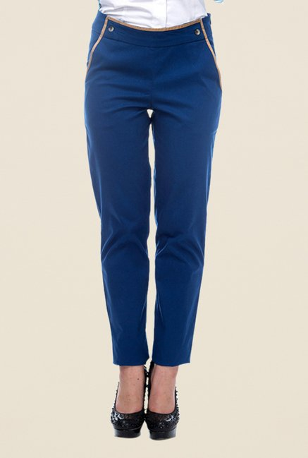 Kaaryah Blue Solid Trouser