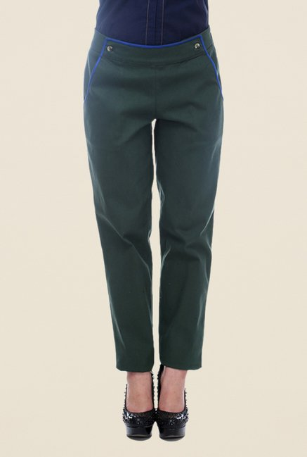 Kaaryah Green Solid Trouser