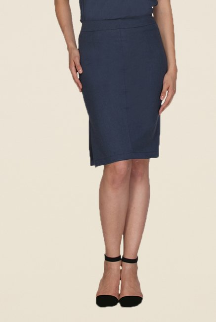Kaaryah Navy Pencil Skirt