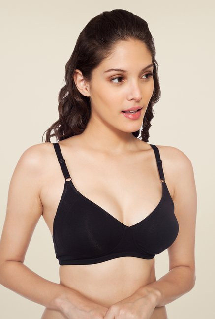 Soie Black Demi Cup Non Wired Non Padded Bra